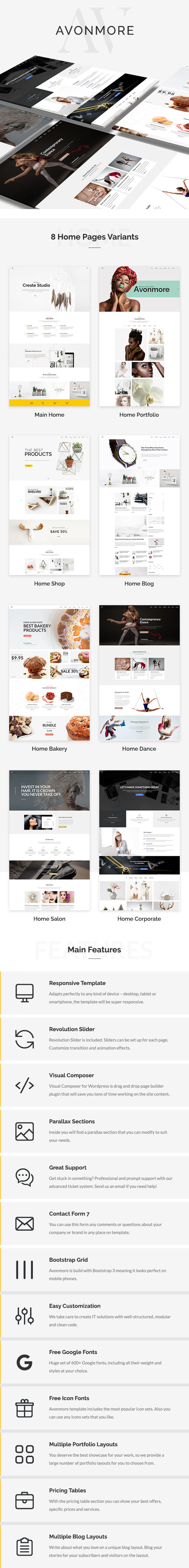 Creative Multipurpose WordPress Theme - Avonmore - 2
